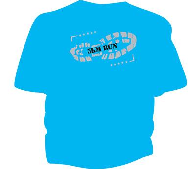 5KM run tshirt
